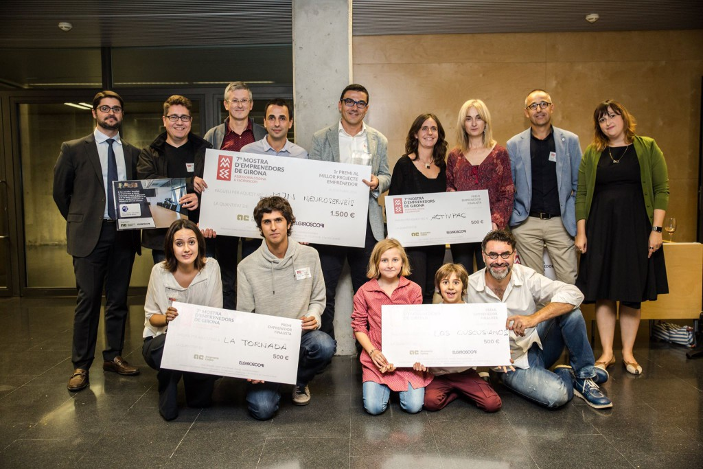 Mostra Emprenedors Girona 2016 Cuscusianos MNJ Neuroserveis Epilepsia La Tornada ActivPac Assessoria Codina ElGiroscopi